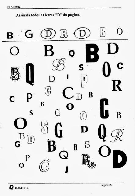Atividades para alunos com dislexia