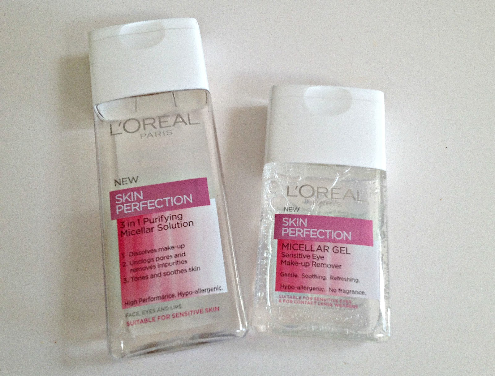 L'Oreal Skin Perfection Micellar Gel and Micellar Solution