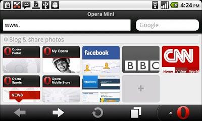 Opera Mini 4 Java Mobile Apliccation
