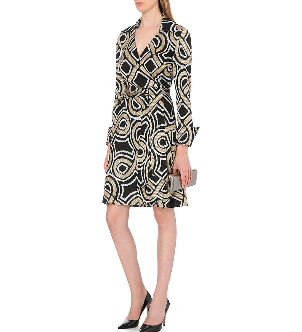 DIANE VON FURSTENBERG - Bruna metallic wrap dress