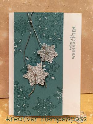 Weihnachtskarte Schneeflocken