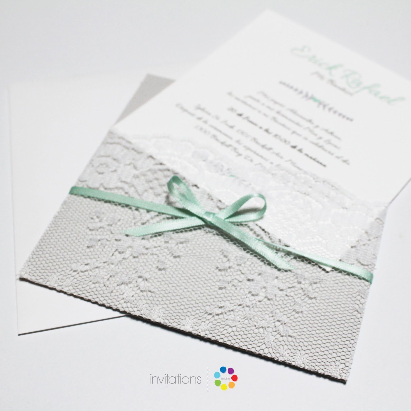 Vintage Lace Baptism invitations | Invitations | Party Favors Place