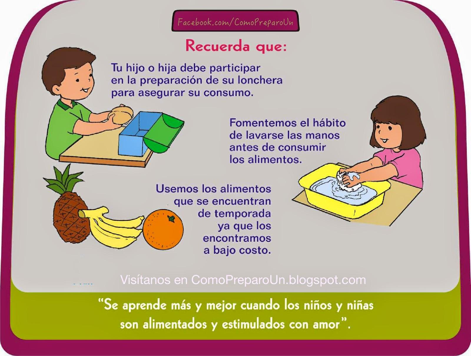 LONCHERAS NUTRITIVAS Y SALUDABLES PARA NIÑOS - viernes