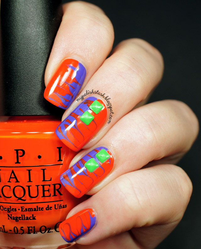 drag marble halloween colors