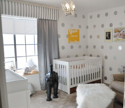 hudson baby design nursery of the week grey and white. Black Bedroom Furniture Sets. Home Design Ideas