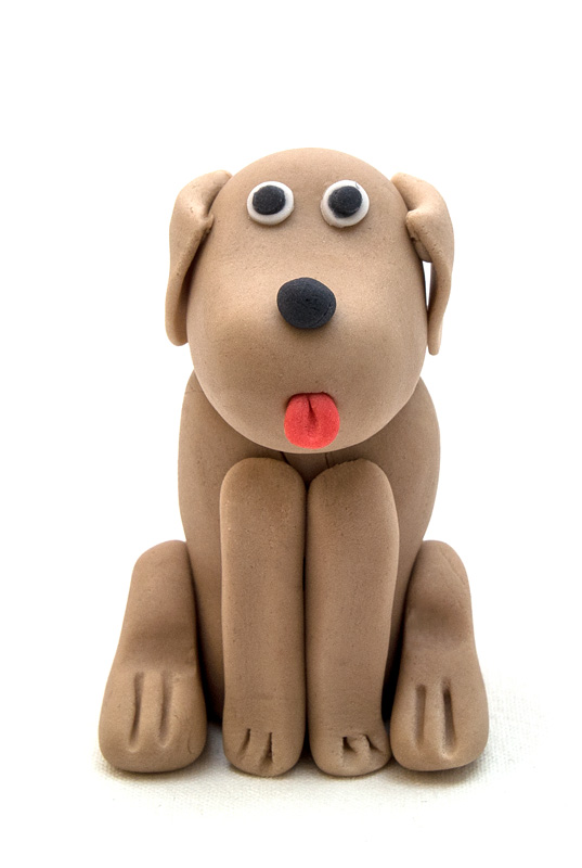 Dog fondant figurine