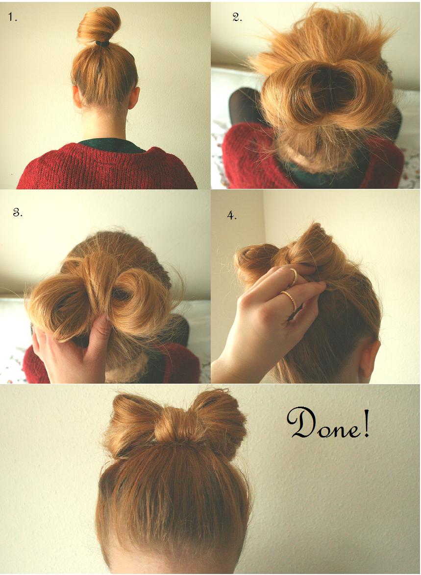 bow bun tutorial for short hair
