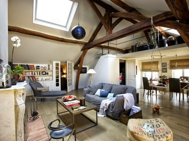 Icono interiorismo el encanto de decorar con vigas de madera - Decoracion con vigas de madera ...