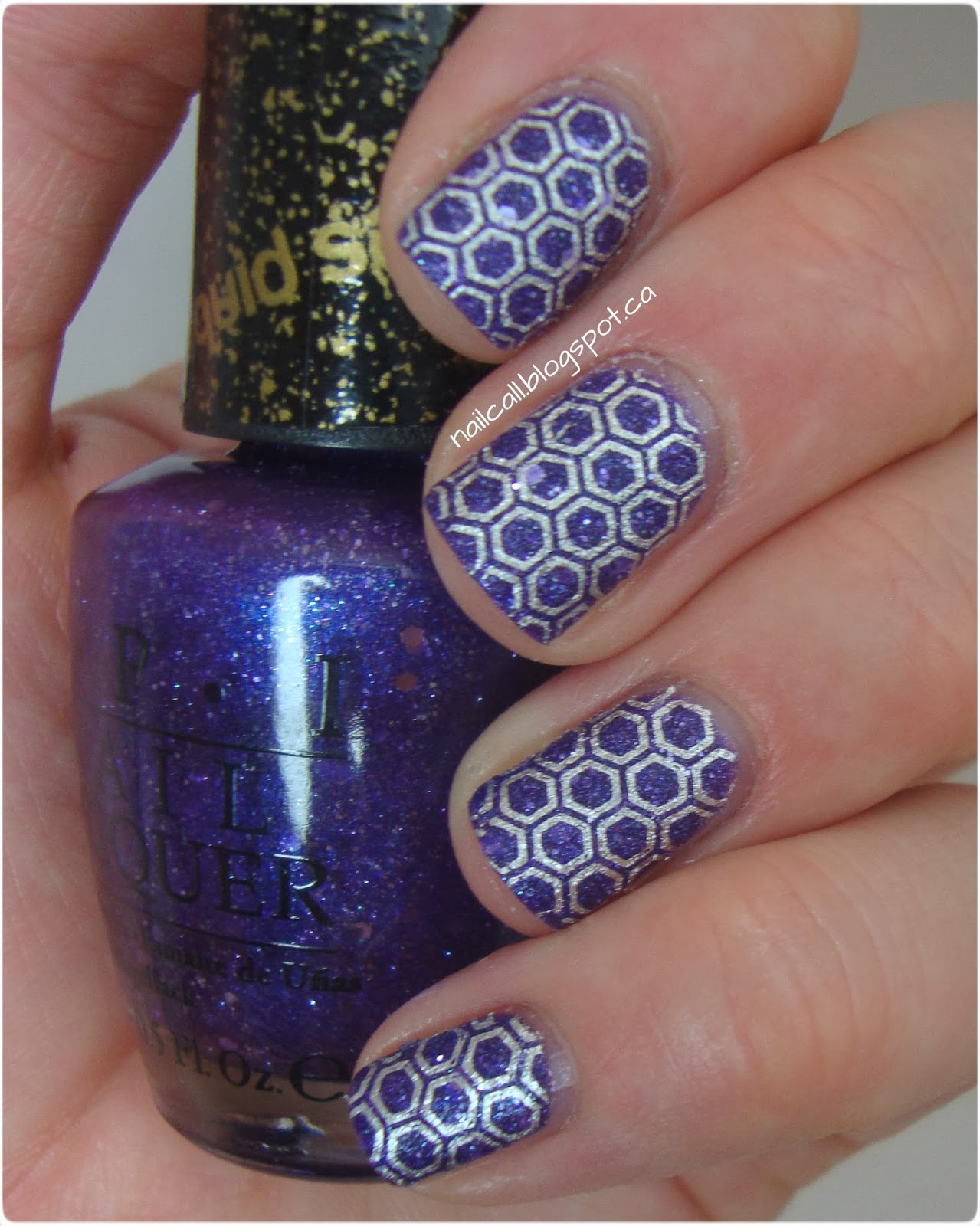 OPI Can't Let Go Stamped with BM-422
