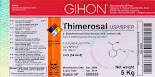 Label for Ethyl Mercury (Thimerosal)