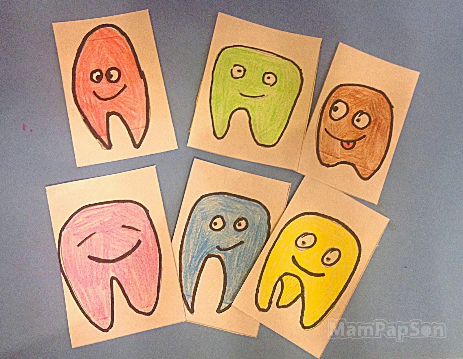 наклейки веселые зубы