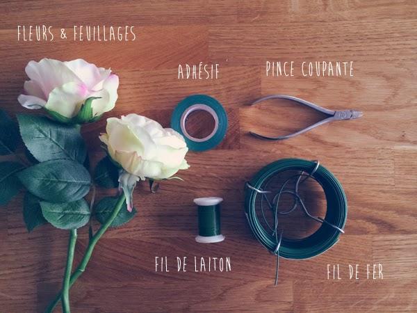 Diy une couronne de fleurs pour un mariage le blog du cheveu - Faire une couronne de fleurs ...