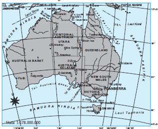 Kenampakan Alam Benua Australia Coretan Guru