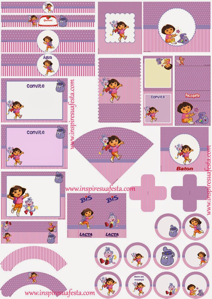 Dora the Explorer: Free Printable Kit.