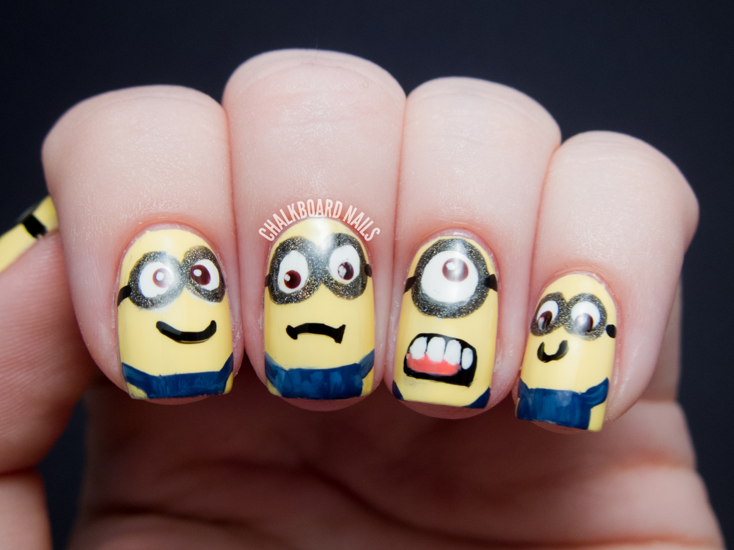 MINIONS!! - Despicable Me Nail Art | Chalkboard Nails | Nail Art Blog