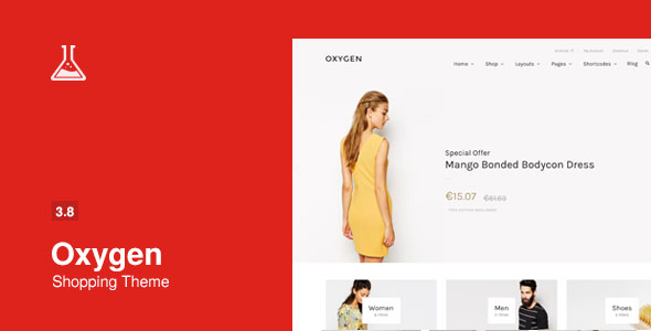 Free Download Oxygen V3.8 WooCommerce WordPress Theme