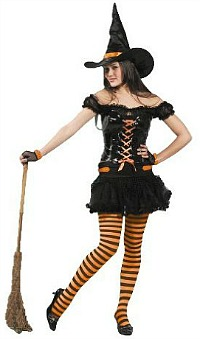Halloween Witch Fancy Dress Costume
