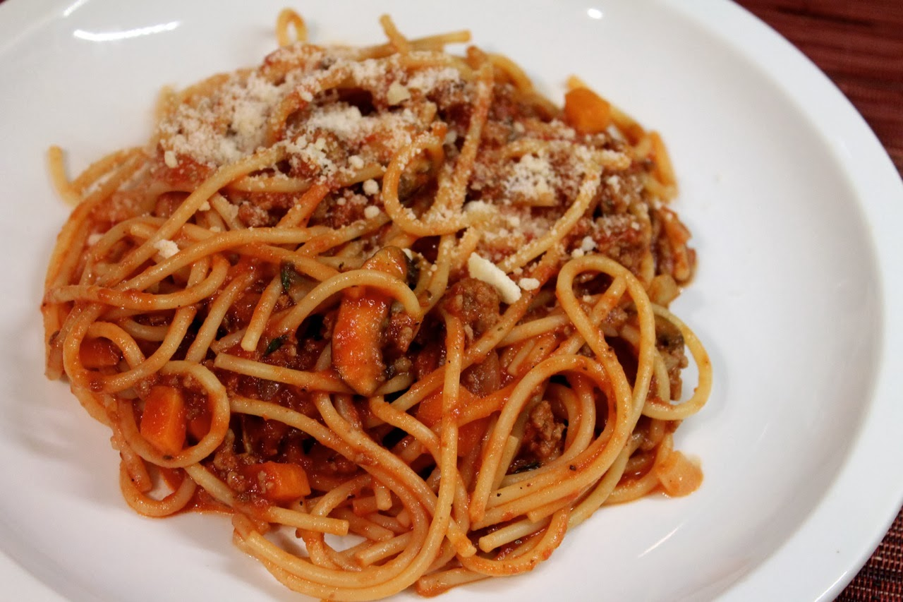 Cook In / Dine Out: Spaghetti with Meat Sauce