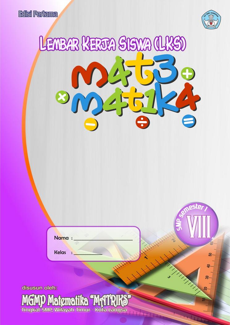 Image Contoh Lks Smp Kelas 8 Matematika Cover Download