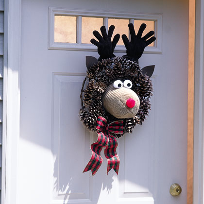 ... fashion rudolph the red nosed reindeer wreath i love its funny face d