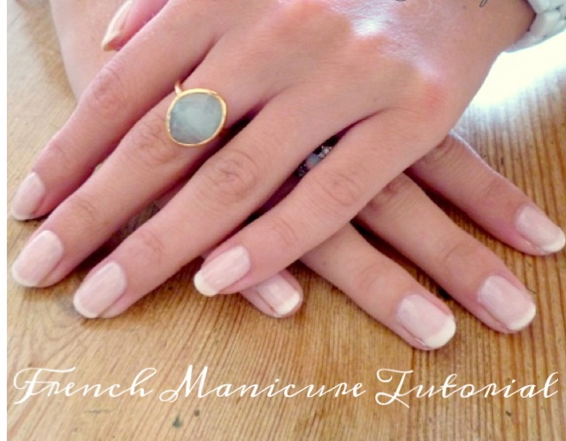 : DIY : Beauty - How to do your own gel (Shellac) French Manicure
