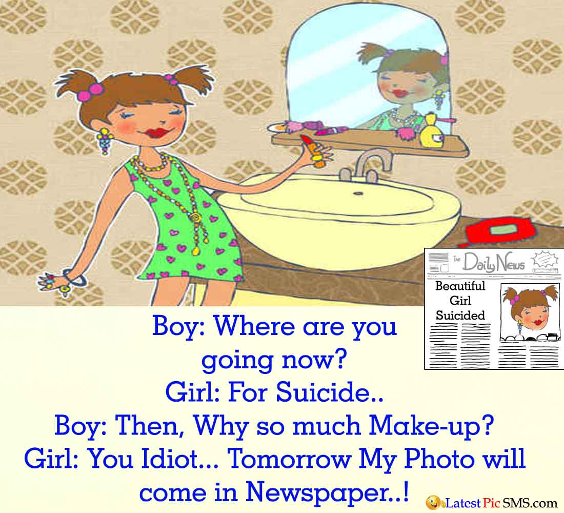 Beautiful Girl Suicides Funny Joke English