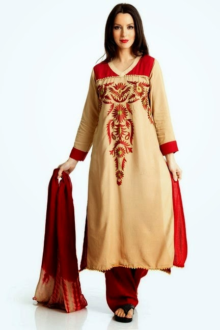 Long Embroidered Salwar Kameez