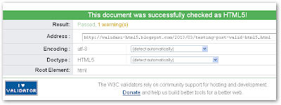 Halaman Posting Blog Valid HTML5