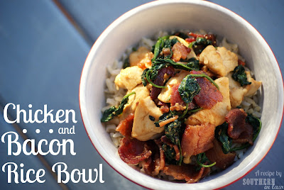 Healthy Chicken Bacon Rice Bowl
