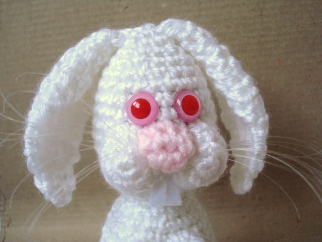 Crochet Doll Scarf Pattern Free : AllSoCute Amigurumis: Albino White Bunny, Rabbit Pattern ...