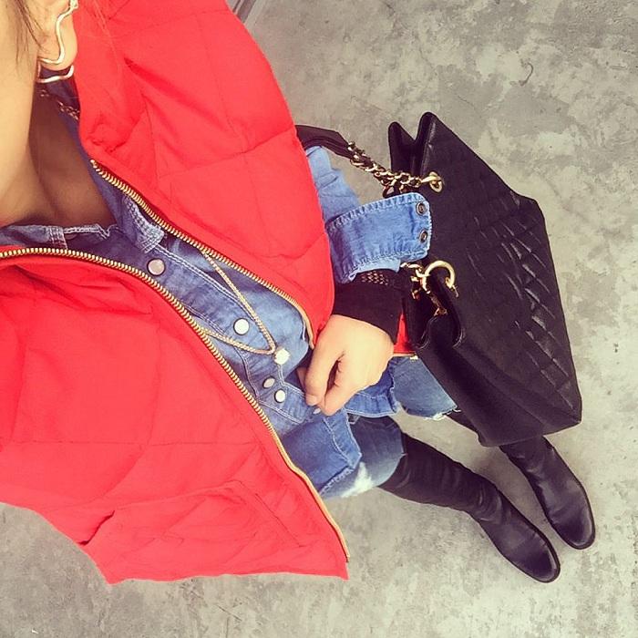 J Crew factory puffer vest, tibi top, blank denim moto pants, alexander wang bag, karen walker sunglasses, Kendra scott earrings, Gorjana necklace, casadei ankle booties, nyc blogger, fashion blog, fall essentials, san franscico