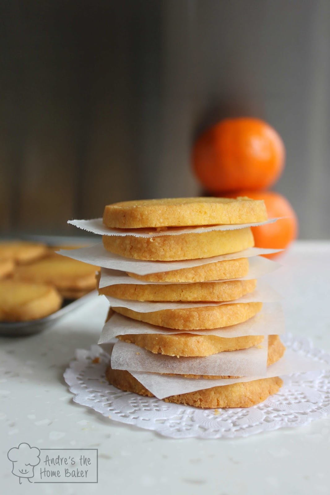 Andre's the Home Baker: ♥ Orange Cornmeal Shortbread