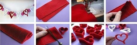 Guirnalda de Corazones, Manualidades para San Valentin