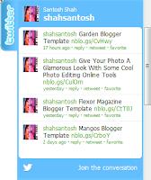 twitter widget, recent twitter widget