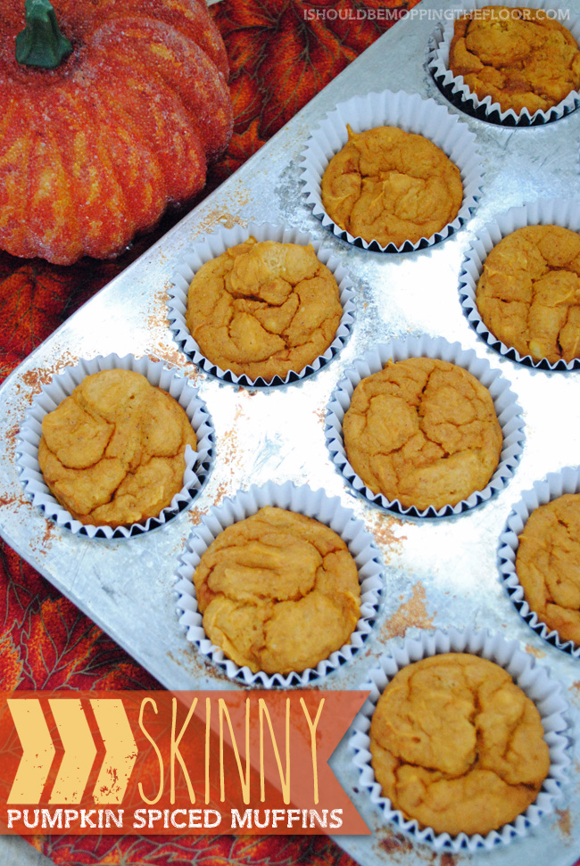 Skinny Pumpkin Spiced Muffins: 2 Weight Watchers Points Plus per serving {ONLY THREE INGREDIENTS!}