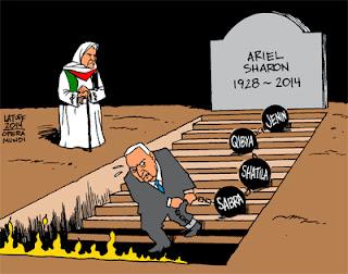Ariel Sharon Dead - karikatur Latuff