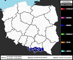 Mapa ostrzeżeń