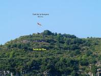 El Turó de la Senyera des de la Serra de Cap de Costa