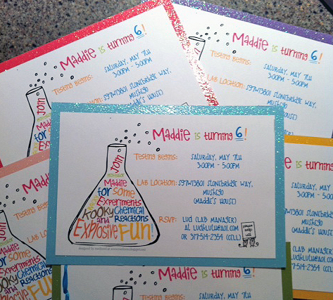 ewe hooo Maddies Mad Science Birthday Party Customer Feature
