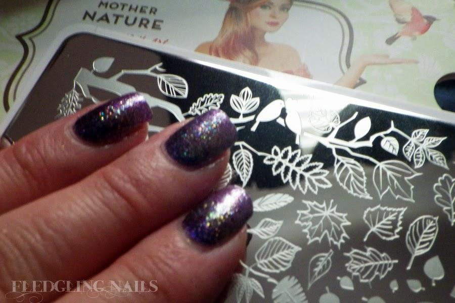 Fledgling Nails: Nail Art: MoYou London Challenge Day 5 - Shadows ...