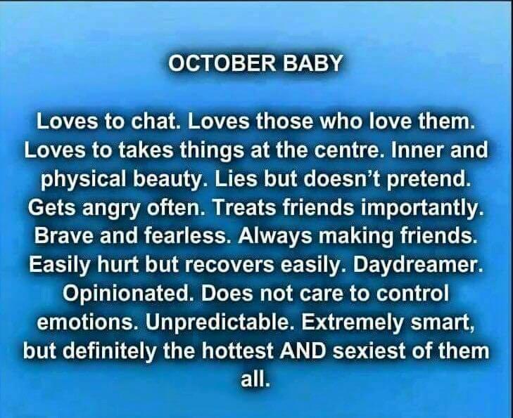 October born baby