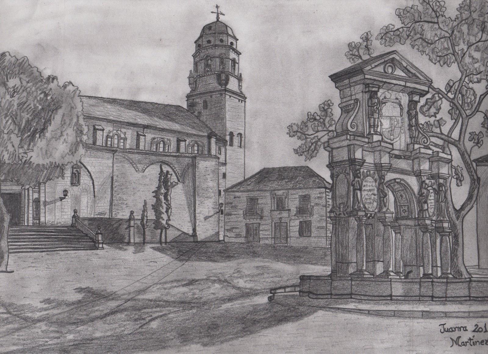 Juanra Martnez Snchez  Dibujos de Paisajes a lpiz y carboncillo