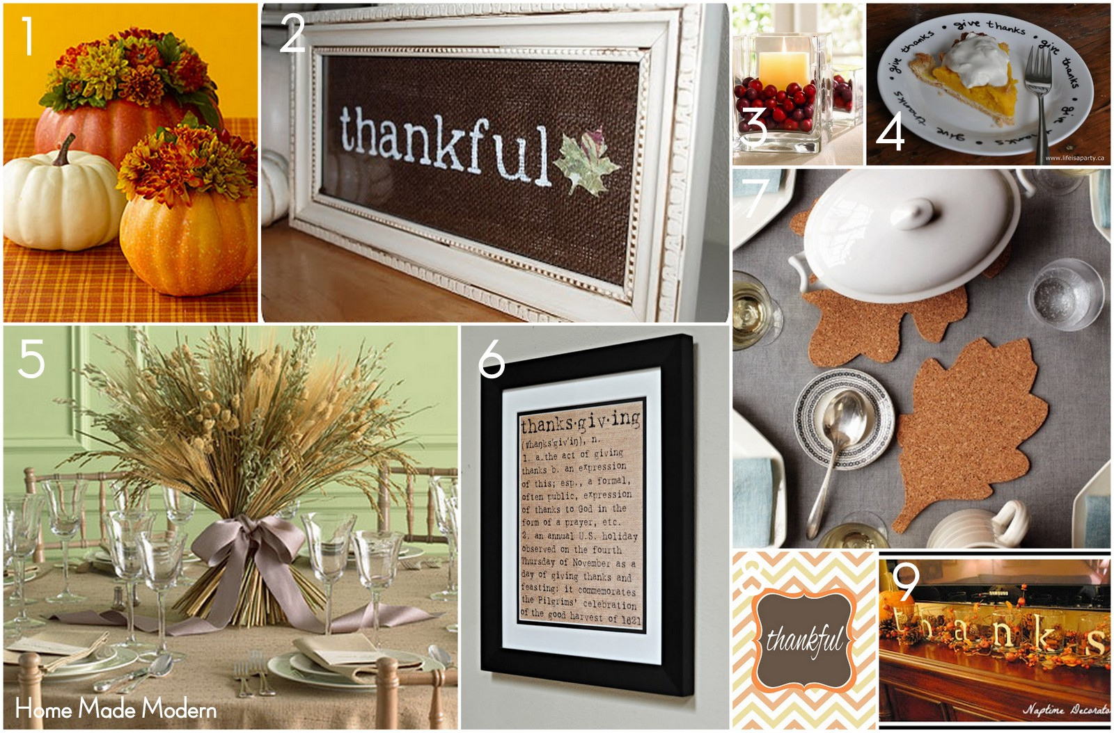 Home made modern pinterest simple thanksgiving ideas for Thanksgiving home decorations pinterest