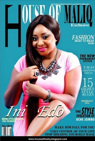 Nollywood Actress Ini Edo and Model/Actor Ik Ogbonna Covers HOUSE OF MALIQ Exclusive Online Magazine