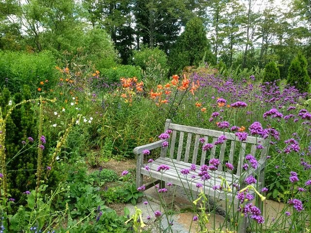 A country garden in Vermont