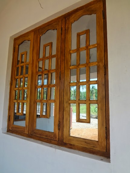 Wood design ideas kerala wooden window wooden window for Wooden window design with glass