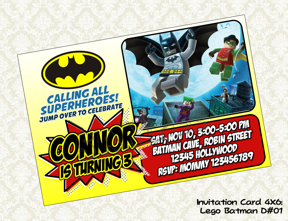 DigyParty: Digyparty's Shop - Lego BATMAN Birthday Party Invitation ...