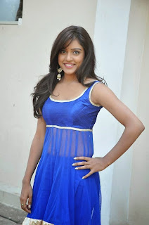 Actress Vithika Sheru Latest Pictures in Blue Salwar Kameez at Paddanandi Premalo Mari Movie First Look Launch 7