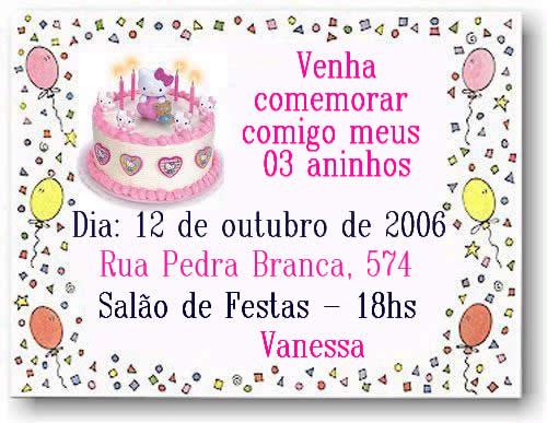 Mensagens De Convites De Aniversario Infantil 3