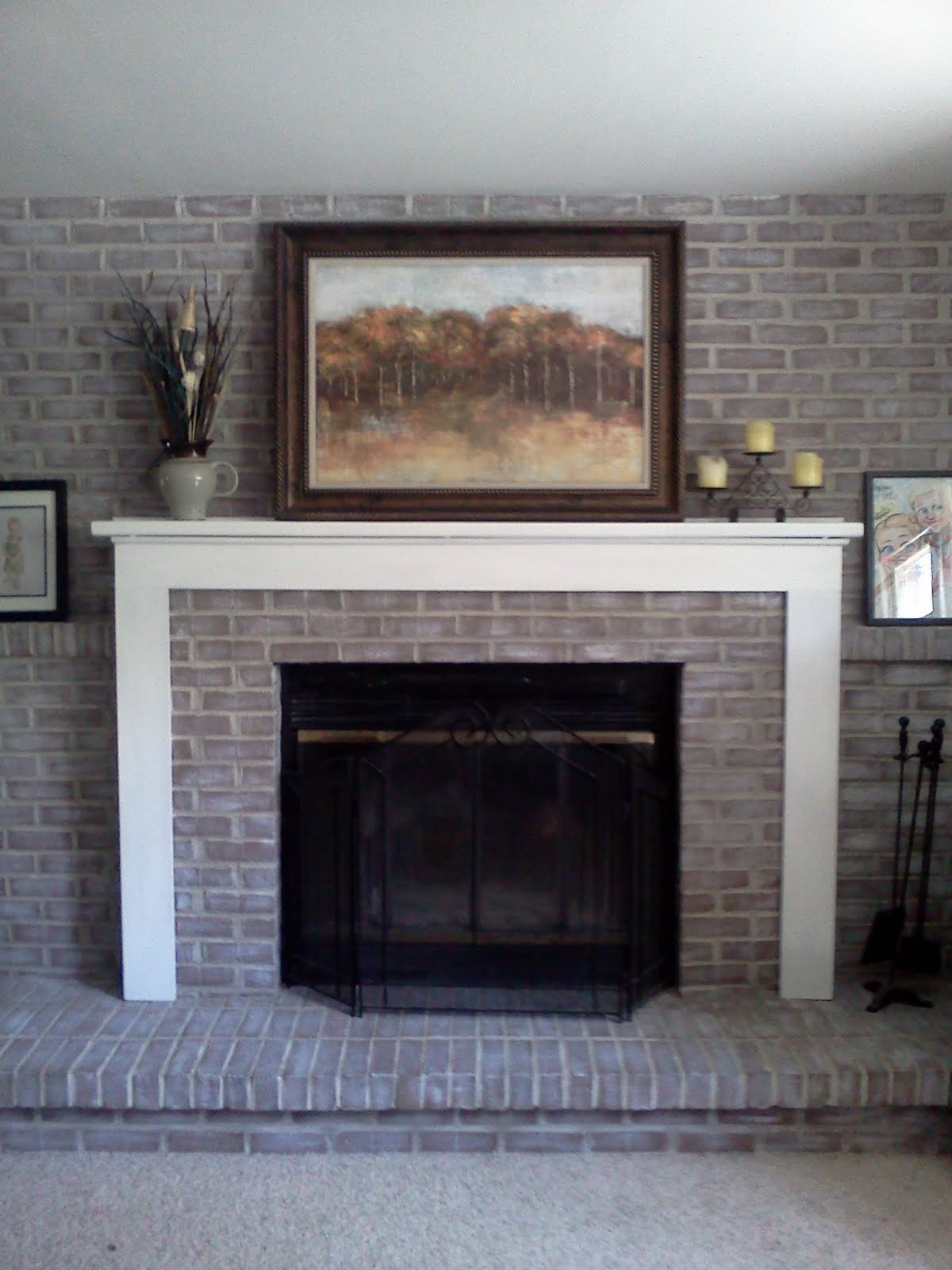 Diy decor brick fireplace makeover - Brick fireplace surrounds ideas ...